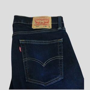 Levi's Men Jeans 510 W33 L32 Dark Wash